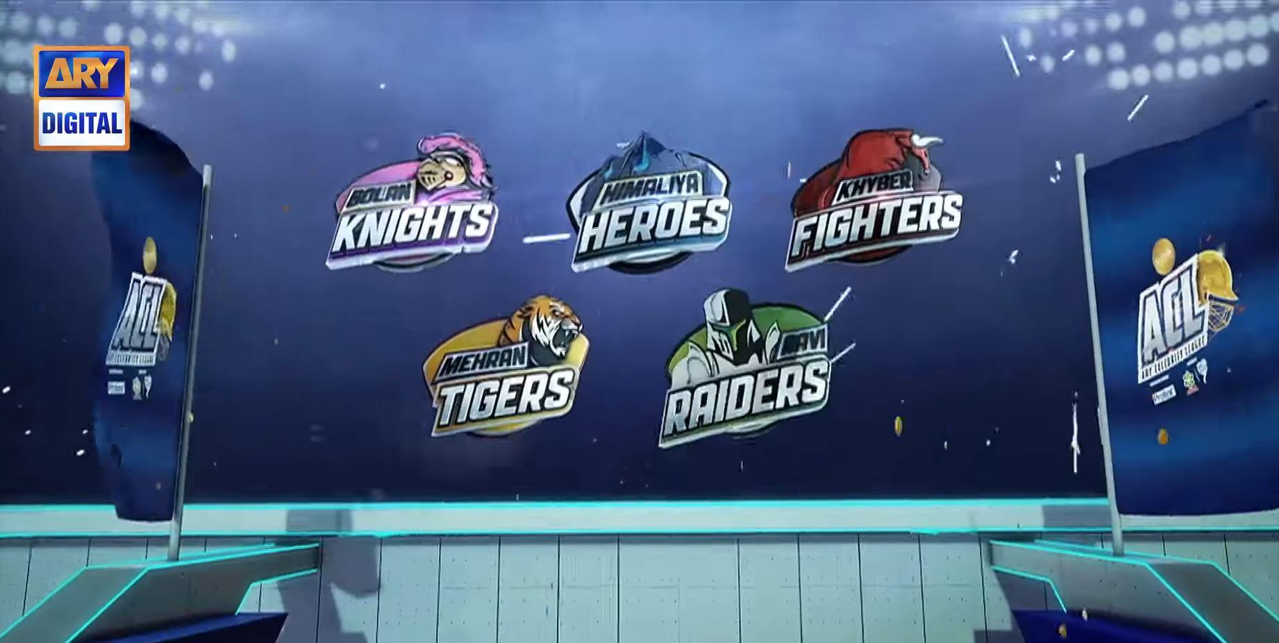 ACL ARY Celebrity League Teams
