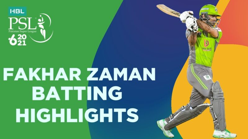 Fakhar Zaman 82 Runs batting highlights