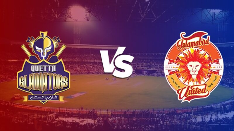 Quetta Gladiators vs Islamabad United Highlights Live Score Updates
